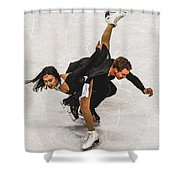 Madison Chock And Evan Bates Shower Curtain
