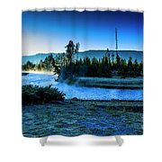 Madison River Yellowstone At Dawn Shower Curtain