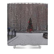 Madison Square Park In The Snow At Christmas Shower Curtain