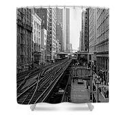 Madison St - Wabash Station - Chicago Loop Shower Curtain