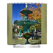 Madison Water Fountain In Fall Shower Curtain
