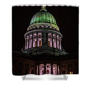 Madison Wi At Night Shower Curtain