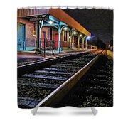 Madisonville Train Depot Shower Curtain