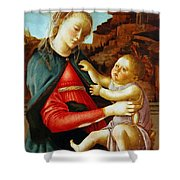 Madonna And Child 1470 Shower Curtain