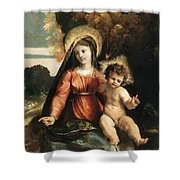 Madonna And Child 1525 Shower Curtain