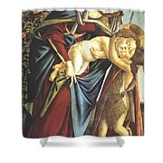 Madonna And Child And The Young St John The Baptist 1495 Shower Curtain