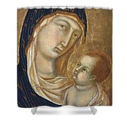 Madonna And Child Fragment  Shower Curtain