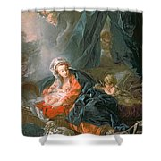 Madonna And Child Shower Curtain by Francois Boucher