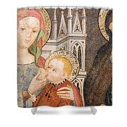 Madonna And Child Fresco, Italy Shower Curtain
