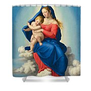 Madonna And Child In Glory Shower Curtain