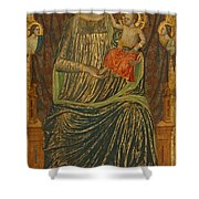 Madonna And Child With Five Angels Shower Curtain