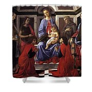 Madonna And Child With Six Saints Shower Curtain