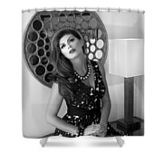 Madonna Chanel Bw Shower Curtain