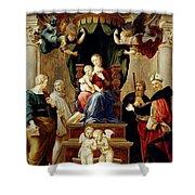 Madonna Del Baldacchino Raffaello Sanzio Da Urbino Raphael Raffaello Santi Shower Curtain