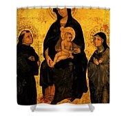 Madonna In Gloria Between Saint Francis And Santa Chiara Gentile Shower Curtain