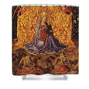 Madonna Of Humility With Christ Child And Angels Shower Curtain