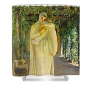 Madonna Of The Arbor Shower Curtain