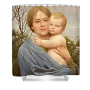 Madonna Of The Mount  Shower Curtain by Thomas Cooper Gotch