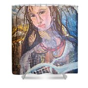 Madonna Of The Racket Shower Curtain