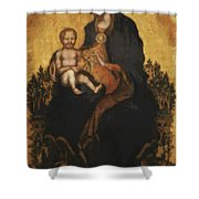 Madonna With Angels 1410 Shower Curtain