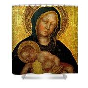 Madonna With Child Gentile Da Fabriano 1405 Shower Curtain