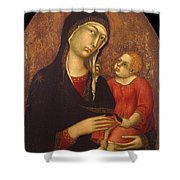 Madonna With Child Shower Curtain