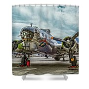 Madras Maiden B-17 Bomber Shower Curtain