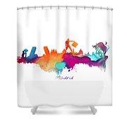 Madrid Colored Skyline Shower Curtain