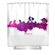 Madrid Skyline City Shower Curtain