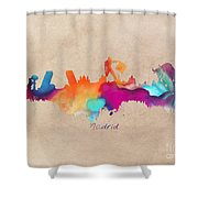 Madrid Skyline  Shower Curtain