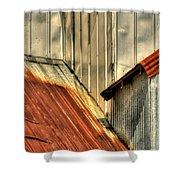 Madsen Grain Roof Shower Curtain