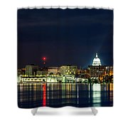 Madtown Skyline Shower Curtain