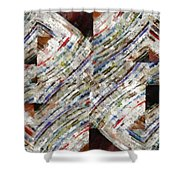 Mag 6 Abstract Painting Shower Curtain