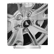 Mustang Mag Wheel Shower Curtain
