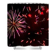 Magenta And Red Shower Curtain