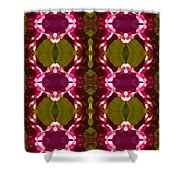 Magenta Crystal Pattern Shower Curtain