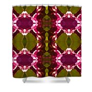 Magenta Crystals Pattern 2 Shower Curtain