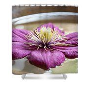 Peaceful Clematis Shower Curtain