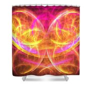 Magenta Moth Shower Curtain
