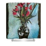 Magenta Oleander Shower Curtain