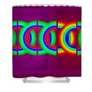 Magenta Olympic Games Shower Curtain