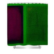 Magenta On Green Shower Curtain