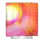 Magenta Orange Sunshine Shower Curtain