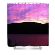 Magenta Sky Shower Curtain