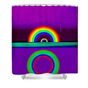 Magenta Sunset Shower Curtain