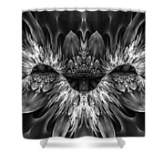 Magenta Until - Black And White 2 Shower Curtain