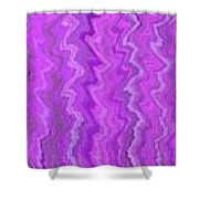 Magenta Waves  Shower Curtain