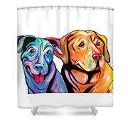 Maggie And Raven Shower Curtain