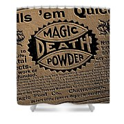 Magic Death Powder Shower Curtain