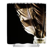 Magic Feathers Shower Curtain